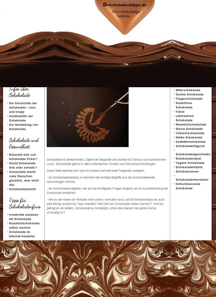 Schokoladen-Website