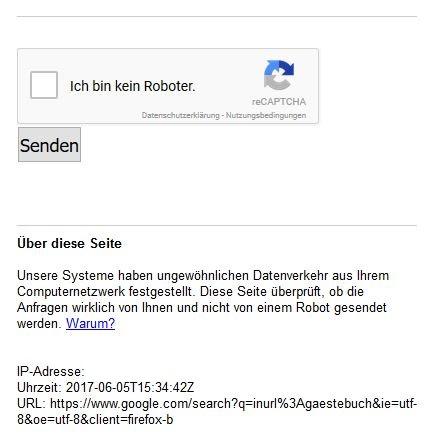 Inurl:gaestebuch: Sie werden für einen Bot gehalten.